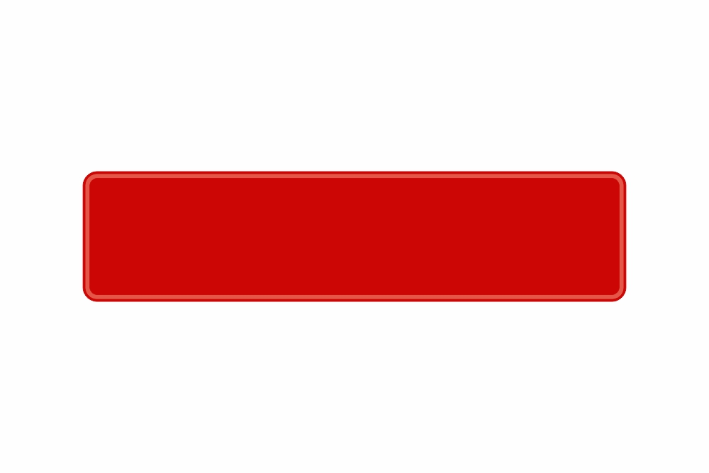 Schild rot reflex 460 x 110 x 1 mm