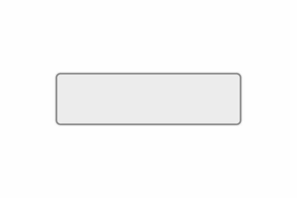 Schild weiß reflex 380 x 110 x 1 mm