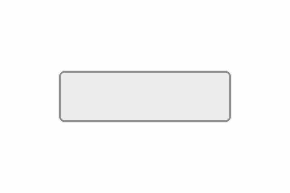 Schild weiß reflex 360 x 110 x 1 mm