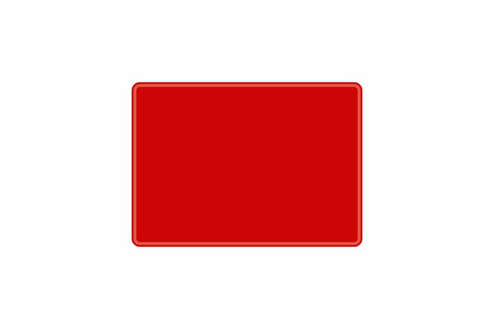 Schild rot reflex 280 x 200 x 1 mm