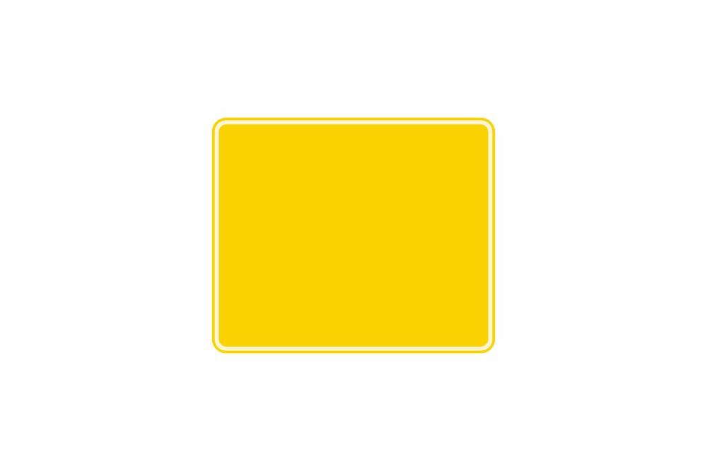 Schild gelb reflex 240 x 200 x 1 mm