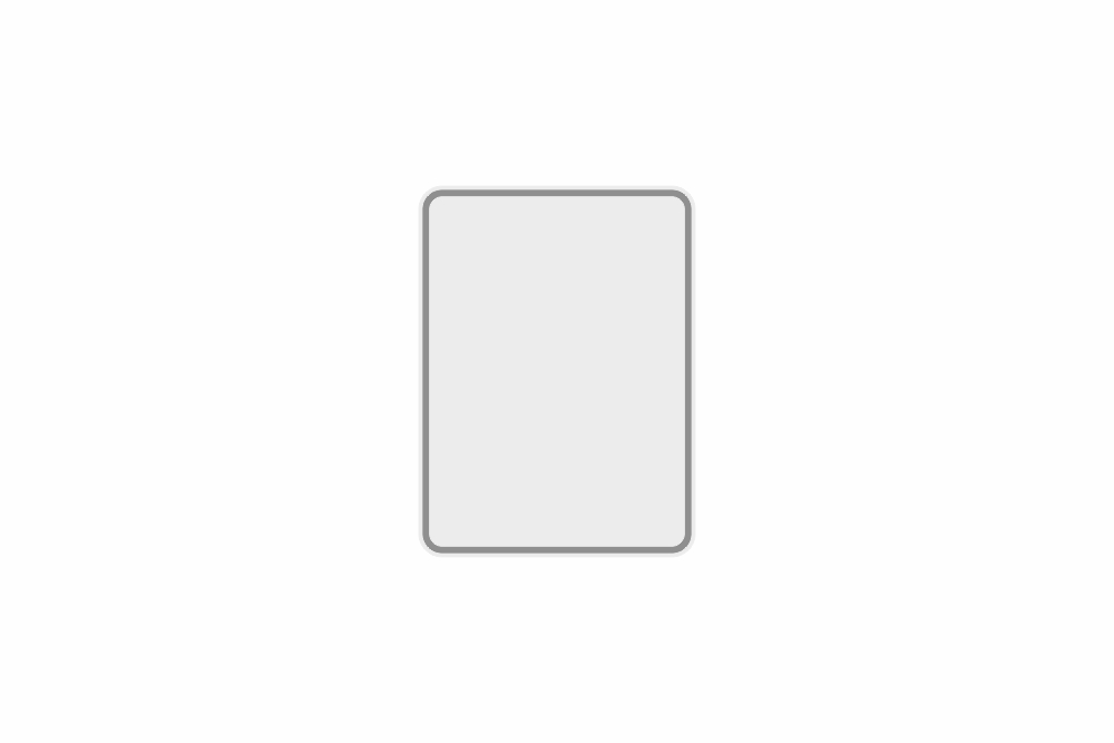 Plate white reflex 149 x 200 x 1 mm