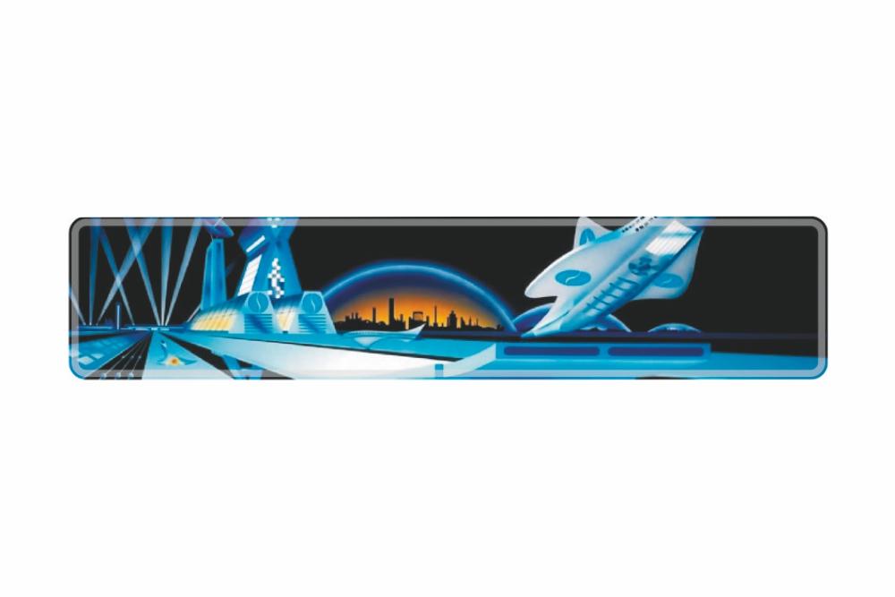 Schild Space 520 x 110 x 1 mm