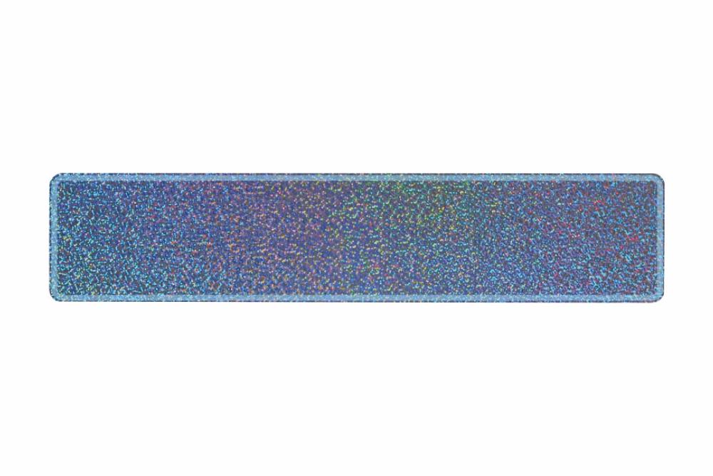 Schild glitzer silber 520 x 110 x 1 mm