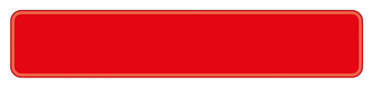 Schild rot reflex 380 x 73 x 1 mm