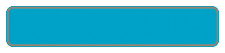 Schild hellblau reflex 380 x 73 x 1 mm