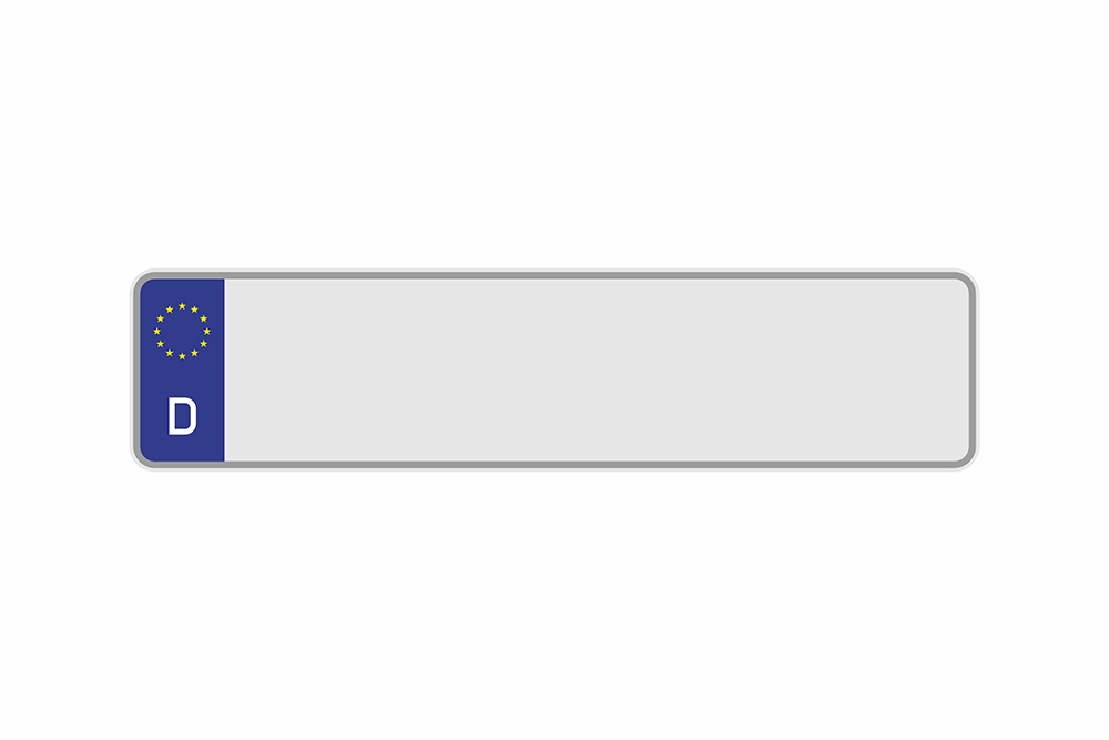Kennzeichen Euro D 460 x 110 x 1 mm