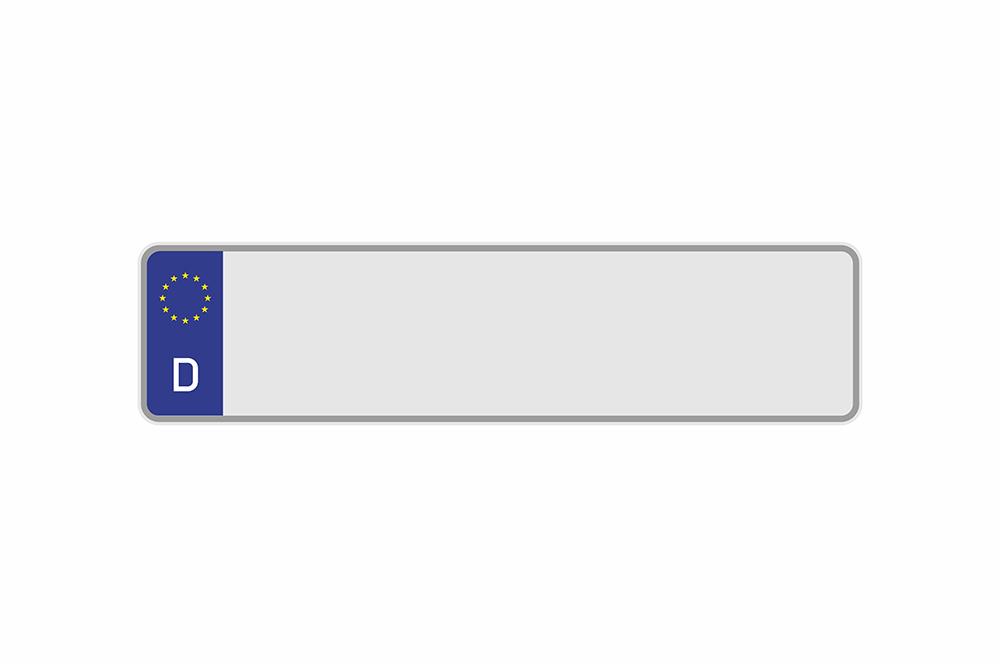 Kennzeichen Euro D 435 x 110 x 1 mm