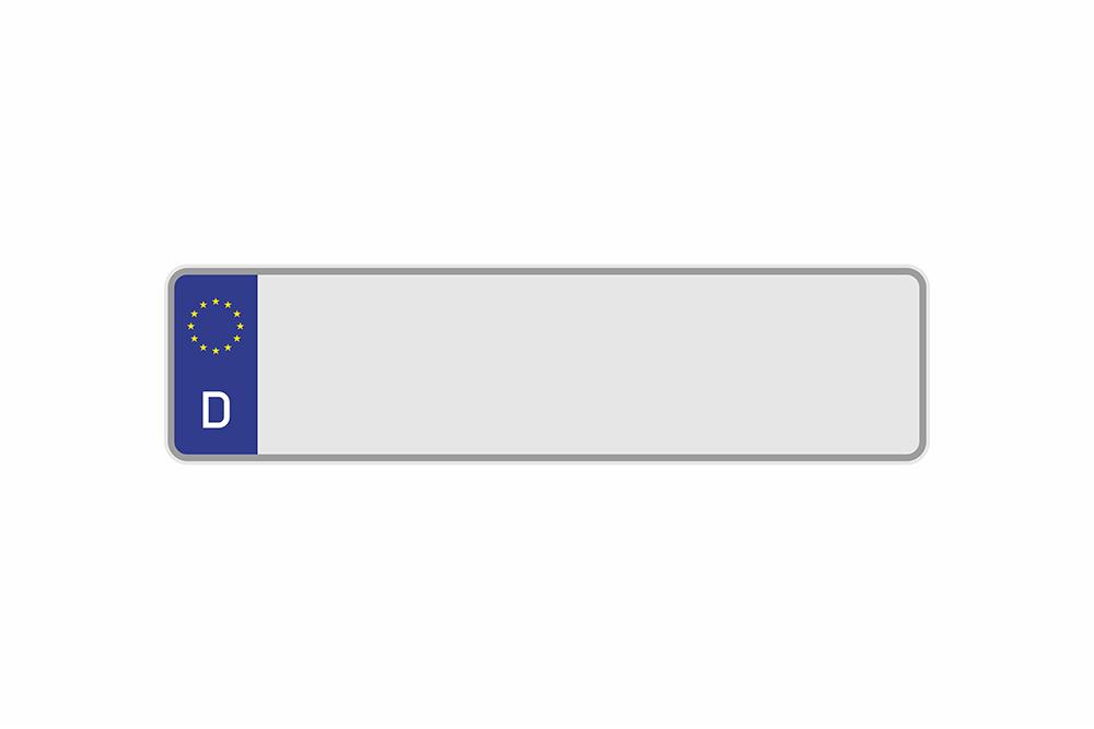 Kennzeichen Euro D 420 x 110 x 1 mm