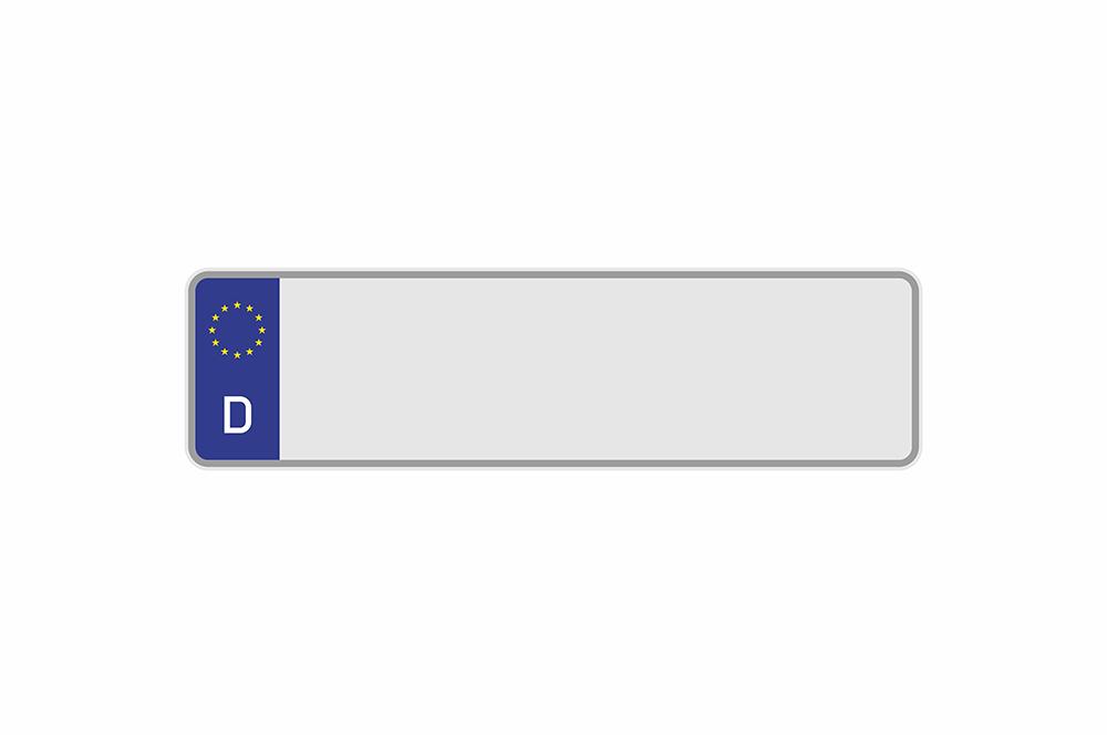 Kennzeichen Euro D 400 x 110 x 1 mm