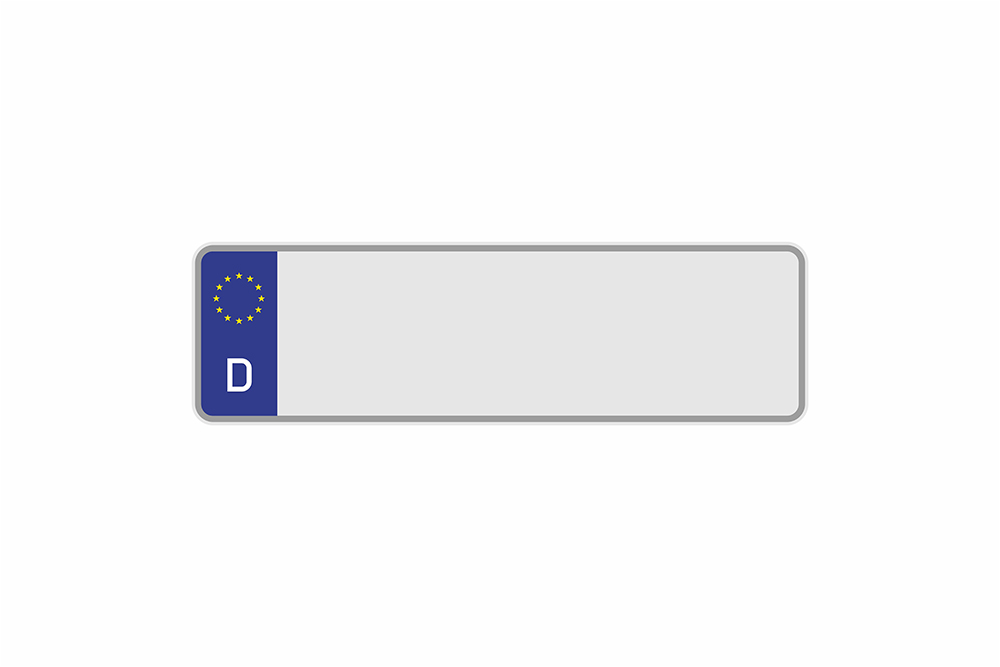 Kennzeichen Euro D 370 x 110 x 1 mm