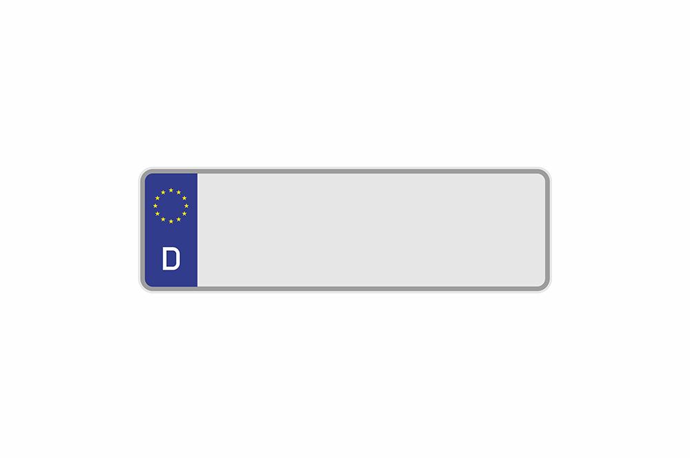 Kennzeichen Euro D 360 x 110 x 1 mm