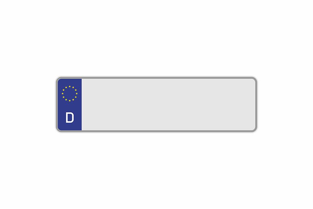 Kennzeichen Euro D 350 x 110 x 1 mm