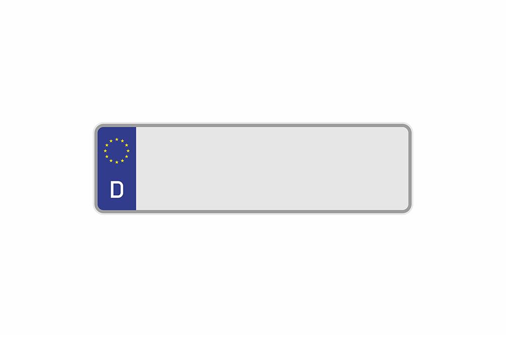 Kennzeichen Euro D 340 x 110 x 1 mm