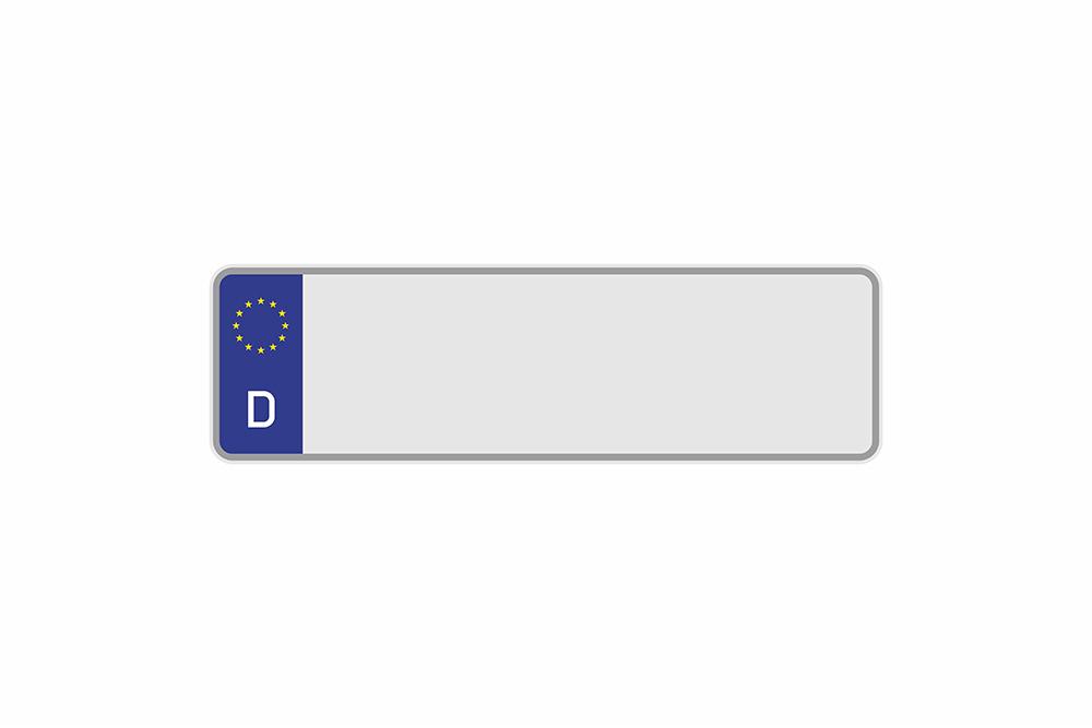 Kennzeichen Euro D 330 x 110 x 1 mm