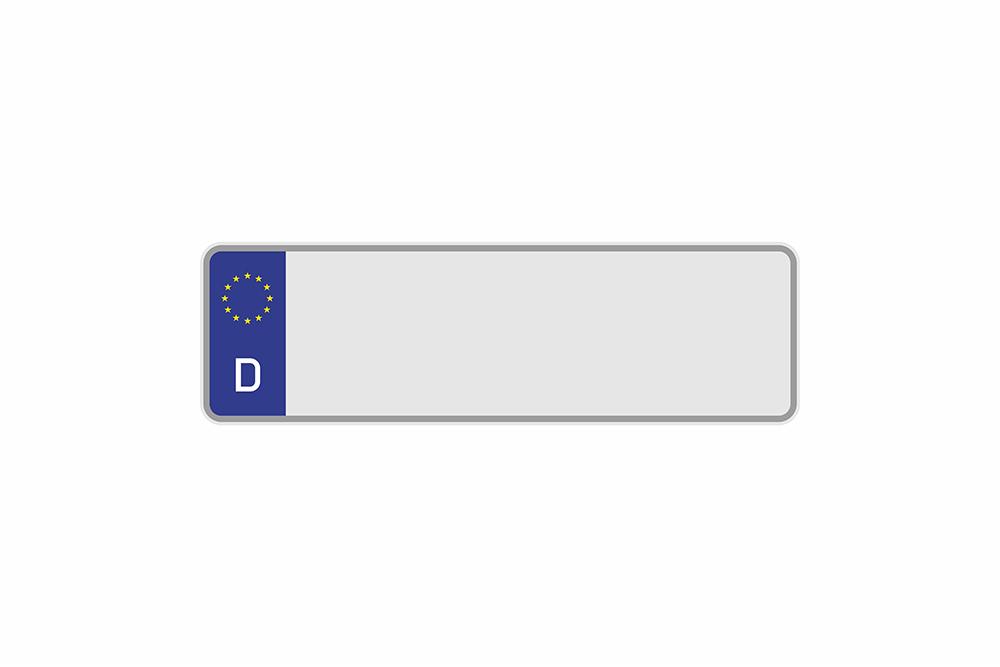 Kennzeichen Euro D 320 x 110 x 1 mm