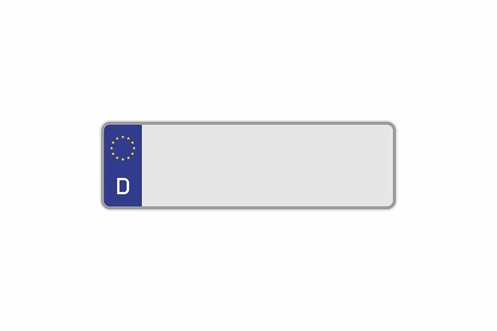 Kennzeichen Euro D 300 x 110 x 1 mm