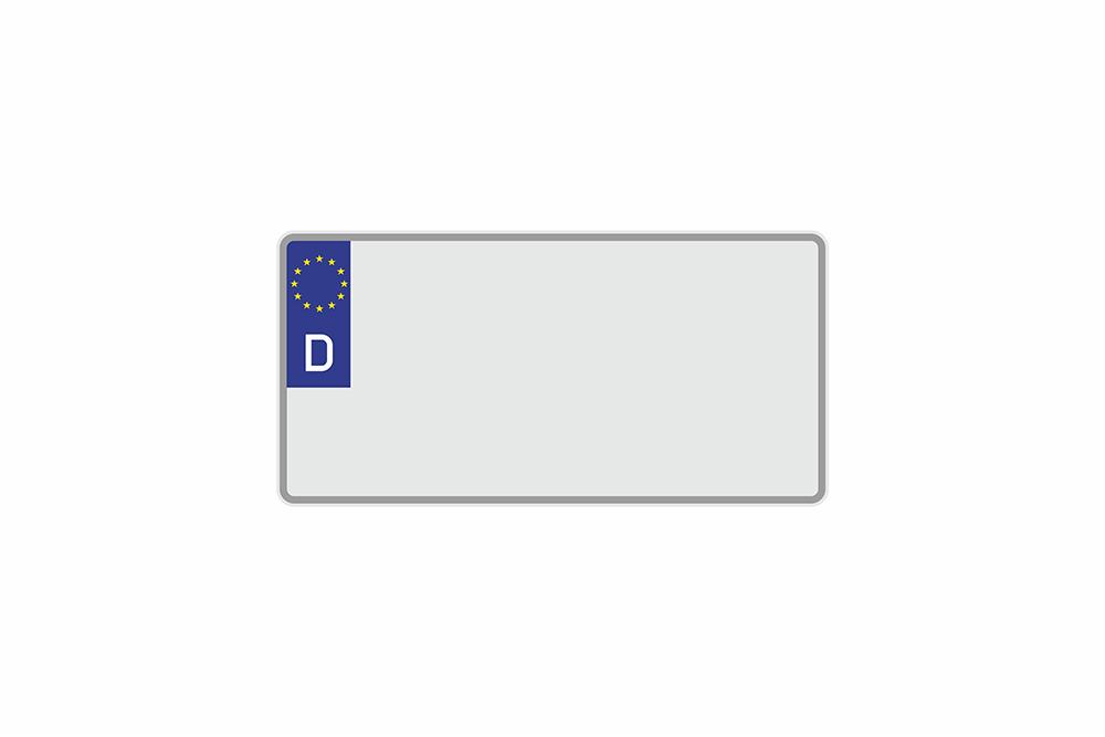 Kennzeichen Euro D 300 x 150 x 1 mm