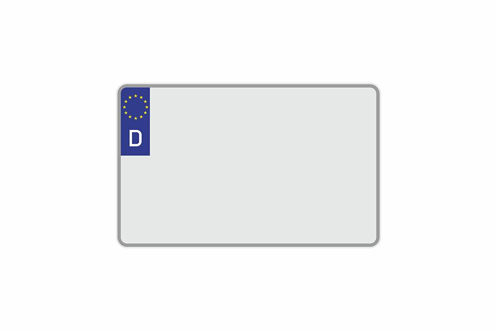 Kennzeichen Euro D 320 x 200 x 1 mm