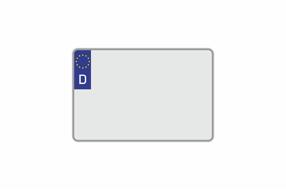 Kennzeichen Euro D 300 x 200 x 1 mm