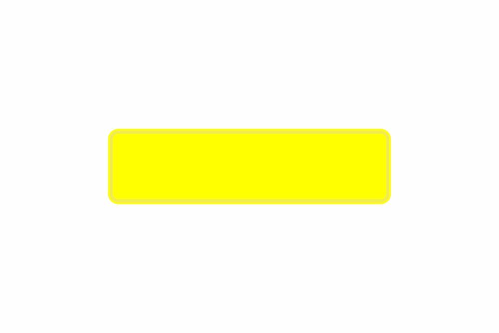 Schild gelb reflex 340 x 90 x 1 mm