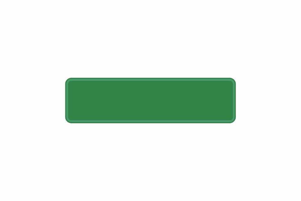 Schild grün reflex 340 x 90 x 1 mm