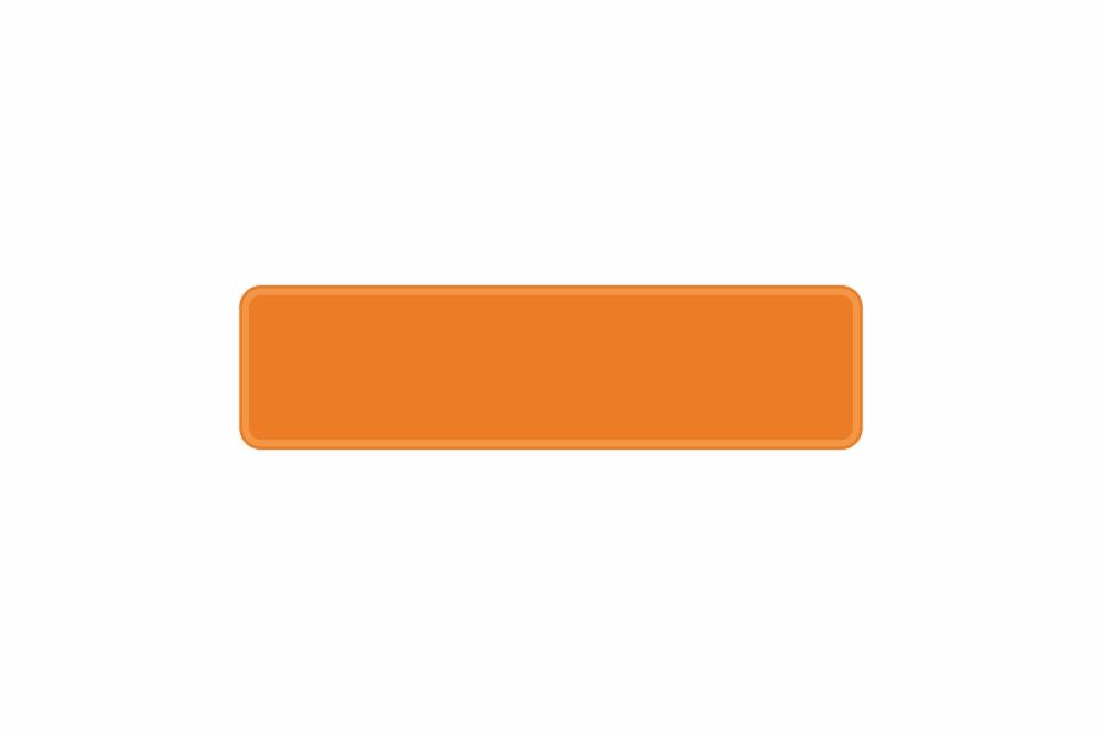 Schild orange reflex 340 x 90 x 1 mm