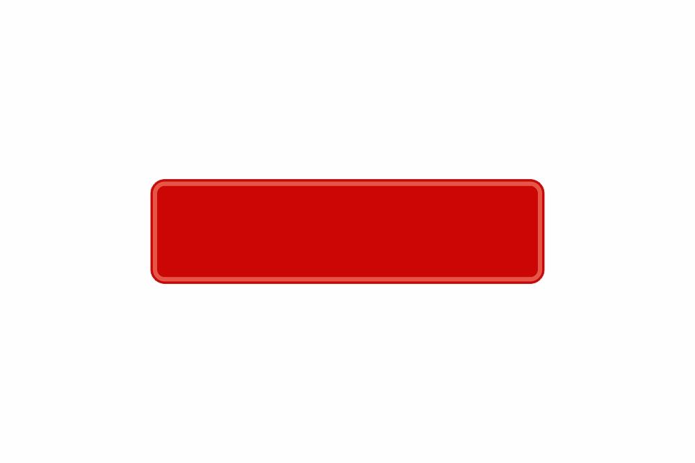 Schild rot reflex 340 x 90 x 1 mm