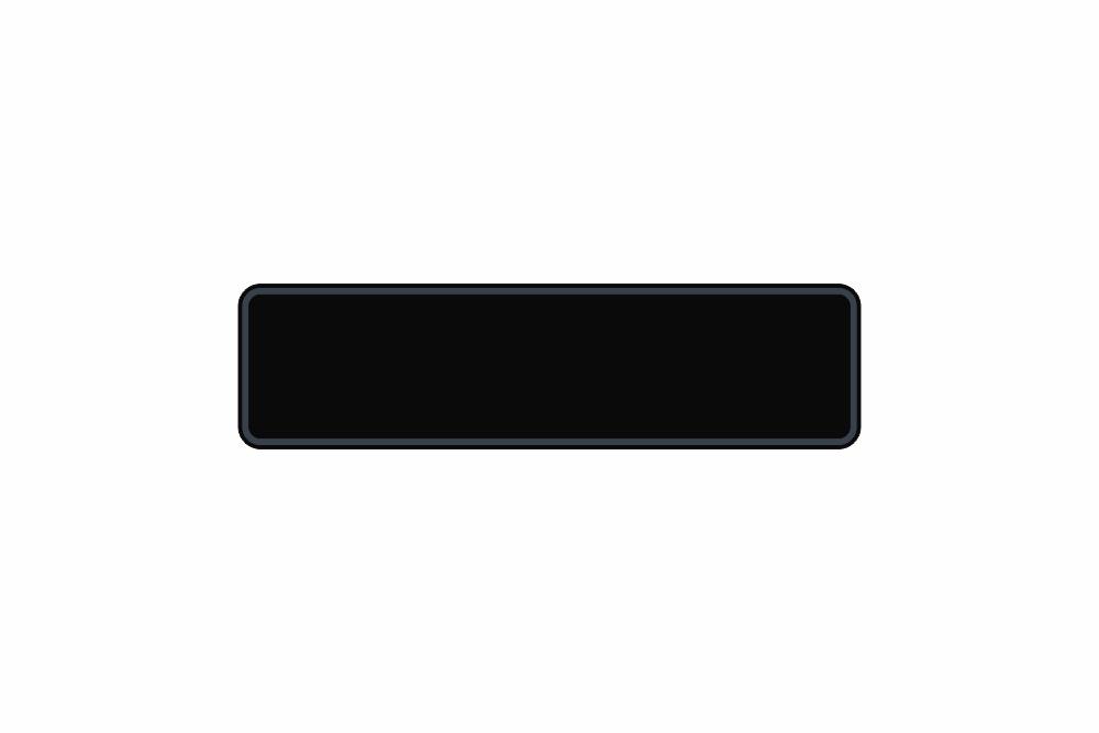 Schild schwarz reflex 340 x 90 x 1 mm