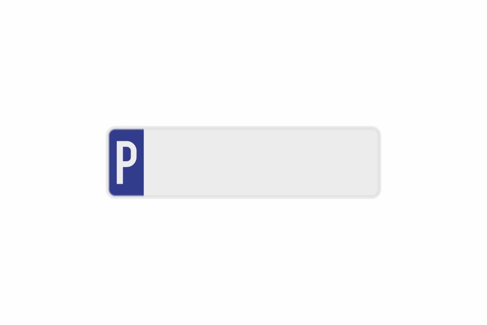 Schild Parkplatz weiß reflex 340 x 90 x 1 mm