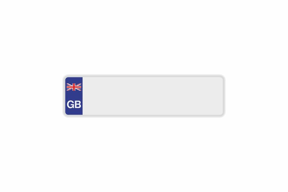 Schild GB / Großbritannien weiß reflex 340 x 90 x 1 mm