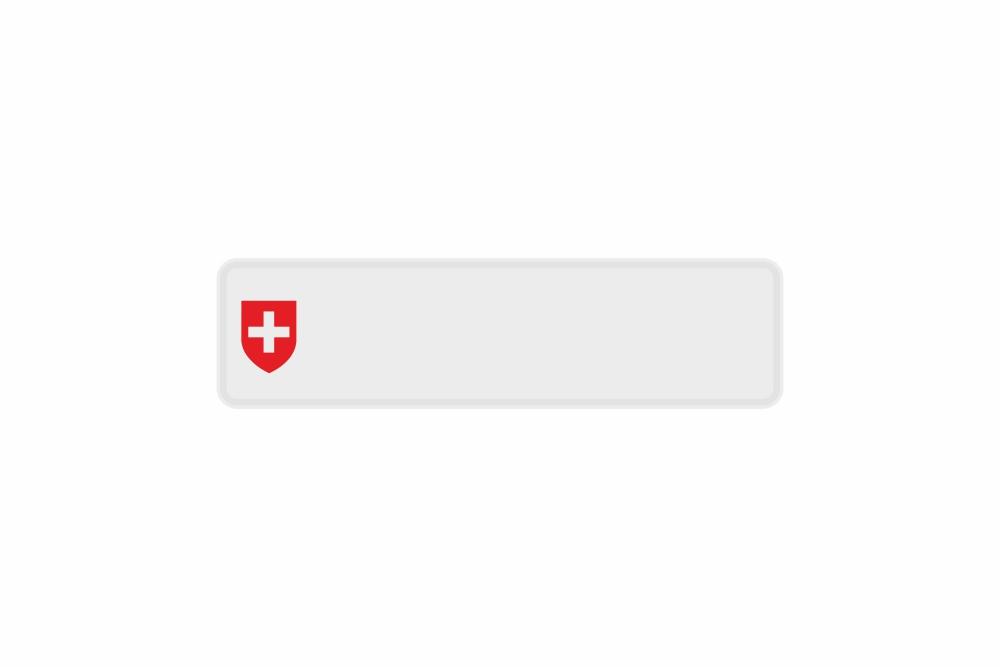 Schild CH / Schweiz weiß reflex 340 x 90 x 1 mm