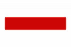 Schild rot reflex 520 x 110 x 1 mm