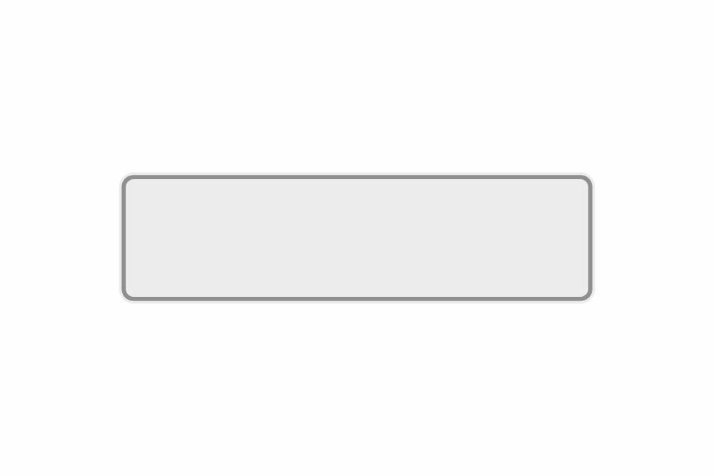 Schild weiß reflex 400 x 110 x 1 mm