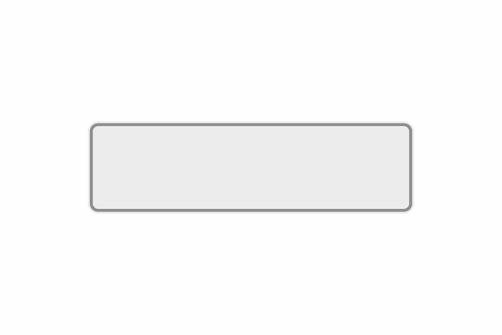 Schild weiß reflex 390 x 110 x 1 mm