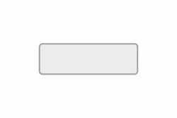 Schild weiß reflex 340 x 110 x 1 mm