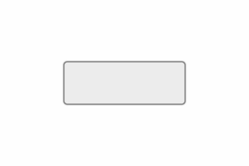 Schild weiß reflex 320 x 110 x 1 mm