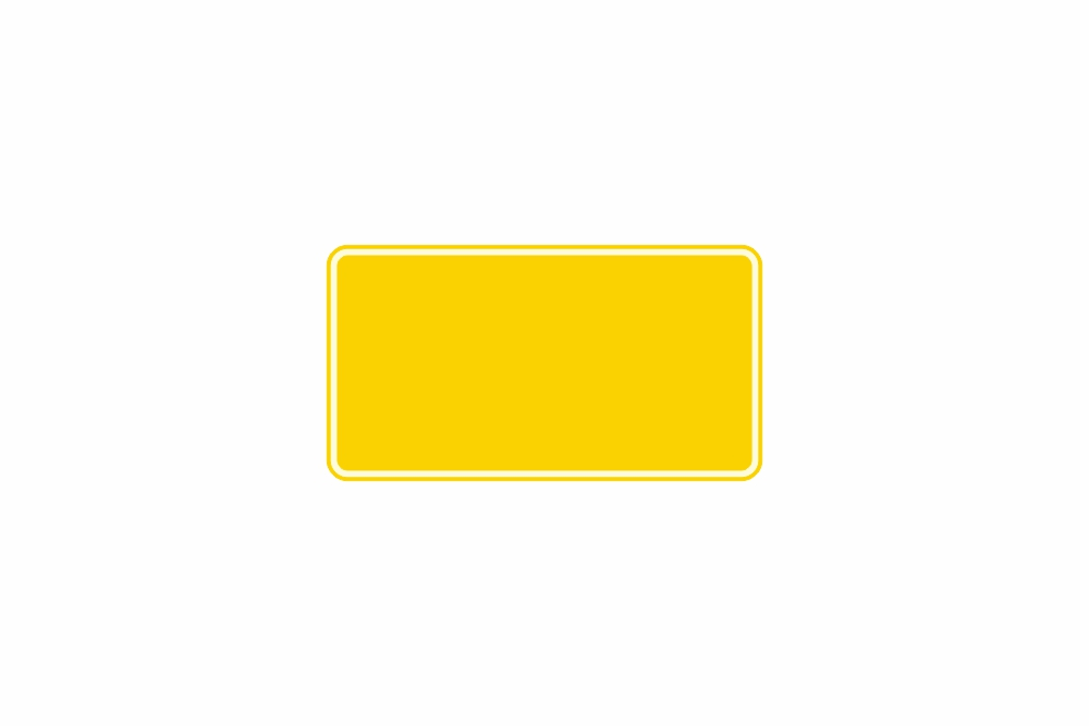 Schild gelb reflex 240 x 130 x 1 mm