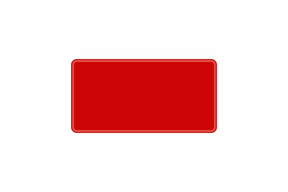 Schild rot reflex 303,3 x 153,4 x 1 mm