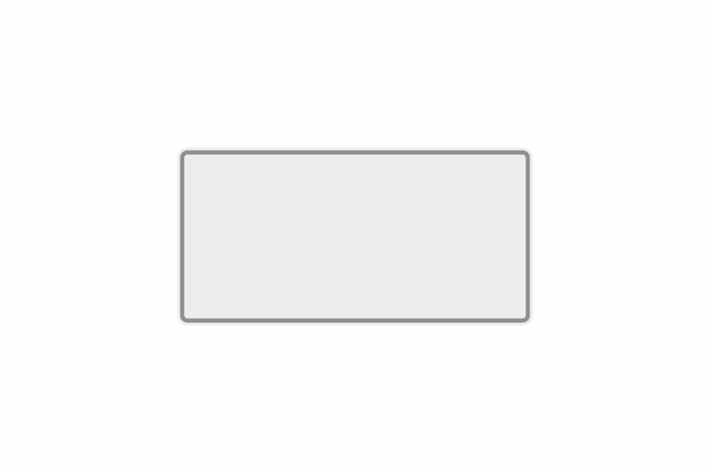 Schild weiß reflex 300 x 150 x 1 mm