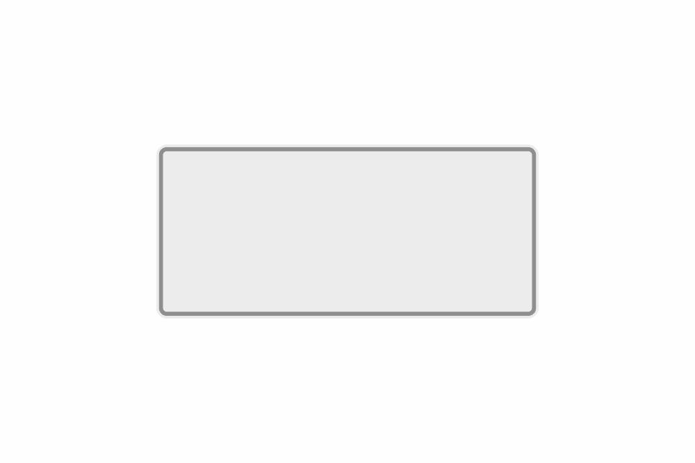 Schild weiß reflex 330 x 150 x 1 mm
