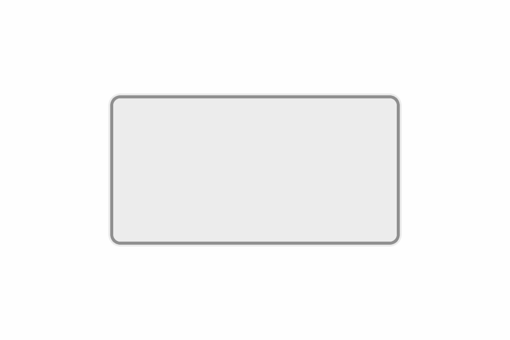 Schild weiß reflex 345 x 180 x 1 mm