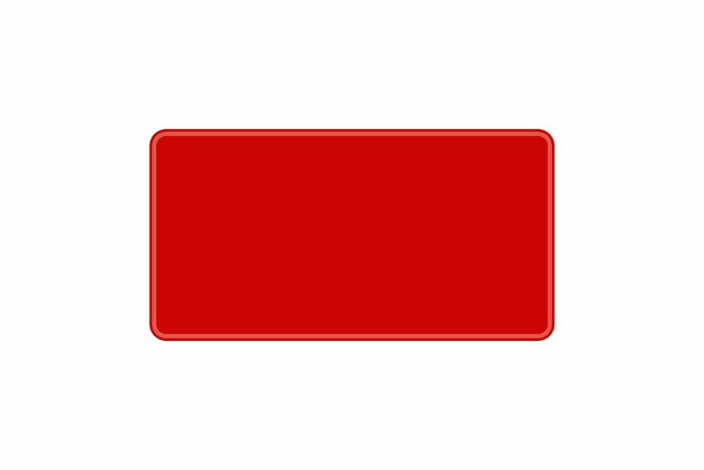 Schild rot reflex 345 x 180 x 1 mm