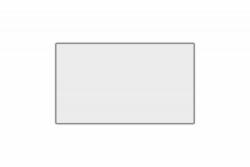 Schild weiß reflex 340 x 200 x 1 mm