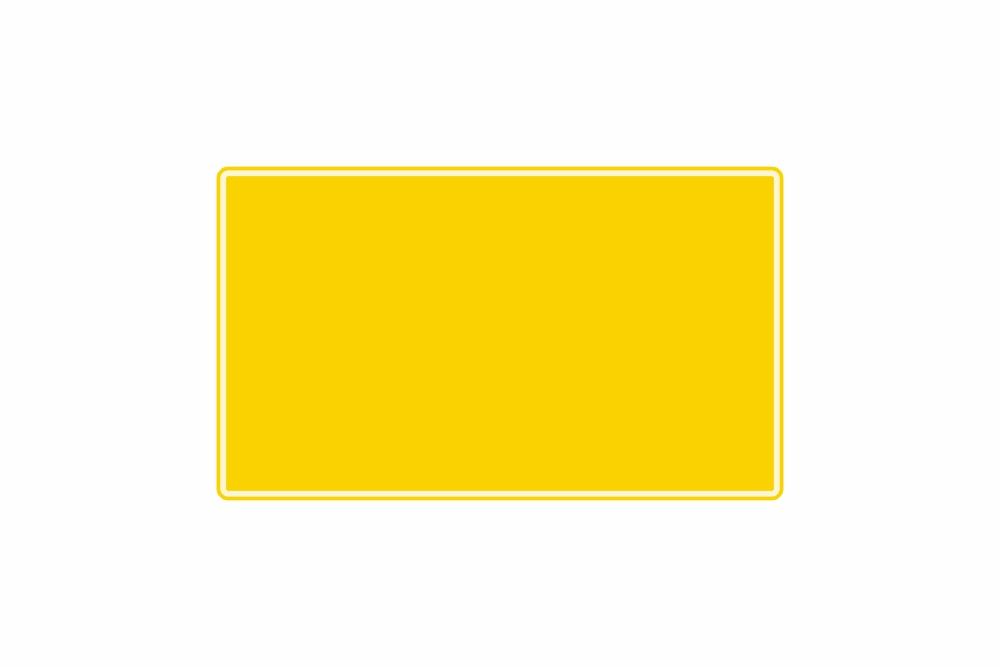 Schild gelb reflex 340 x 200 x 1 mm