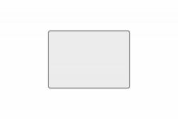 Schild weiß reflex 280 x 200 x 1 mm