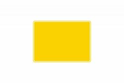 Schild gelb reflex 280 x 200 x 1 mm