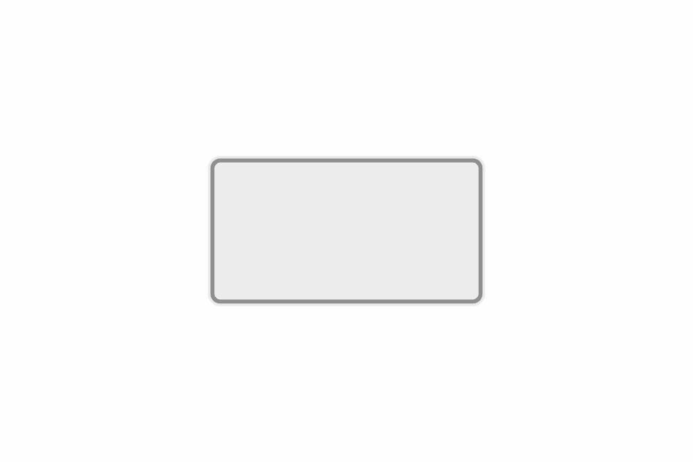 Schild weiß reflex 240 x 200 x 1 mm