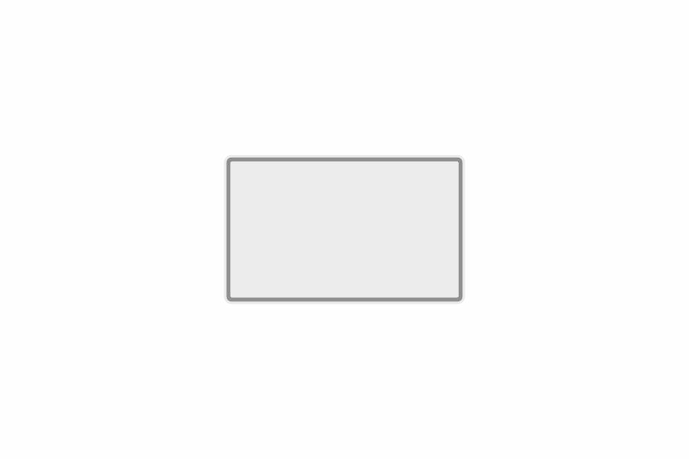 Schild weiß reflex 210 x 130 x 1 mm