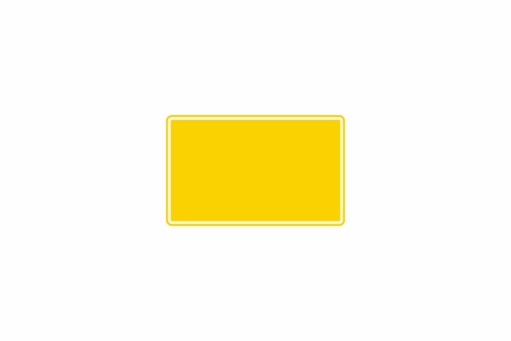 Schild gelb reflex 210 x 130 x 1 mm